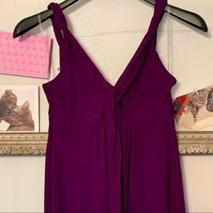 New York & Company Plum Knit Tank Maxi Dress Small